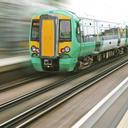 A green train