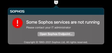 Sophos not running